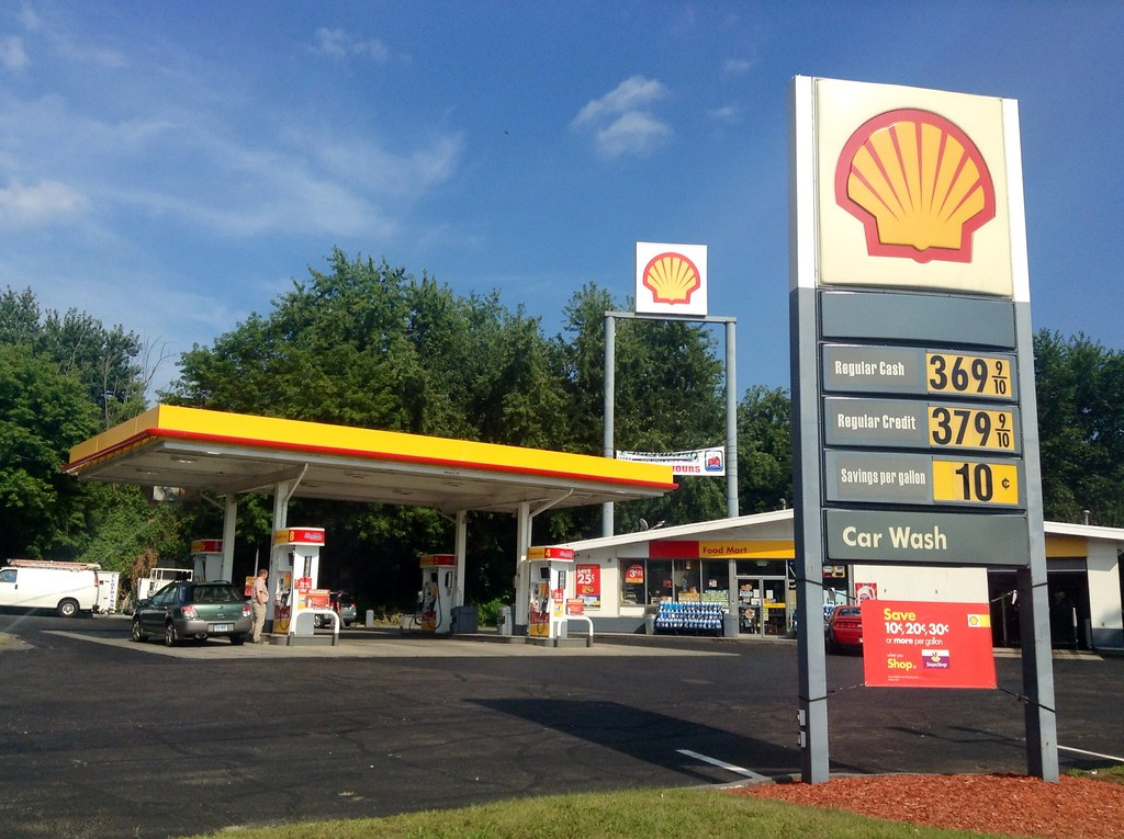 """""""Shell Gas Station"""" by JeepersMedia is licensed under CC BY 2.0"""